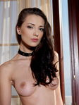 Anna Aj Nude Corset Trimmed Pussy Chair Sensual Posing - Picture 18